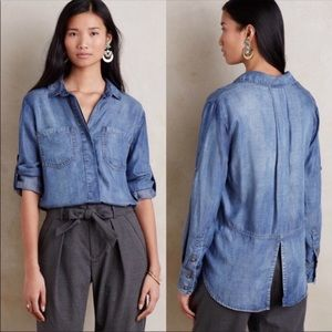Anthropologie Cloth & Stone Chambray Shirt
